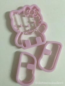 Valentine heart shaped Hello Kitty cookies recipe Spritz cookies